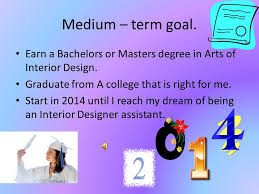 Master Degree In Interior Design by Education And Career Plan Interior Designing Graduation Plan