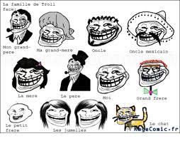 Memes Troll - la famille de troll face mon grand ma grand mere pere la mere le