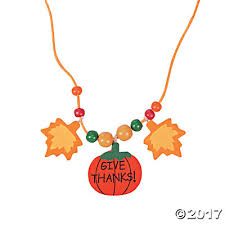 necklace beaded images Thanksgiving necklace craft kit