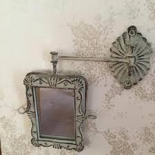 shabby chic grey swivel wall mirror swing arm vintage french style