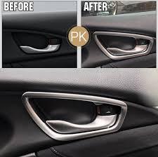 fit for 2016 2017 honda civic chrome inner door handle cover trim