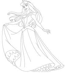 princess pictures to color coloring page blog