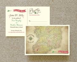 postcard save the date ireland map postcard save the date