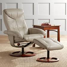 newport taupe swivel recliner and slanted ottoman 8m418 lamps