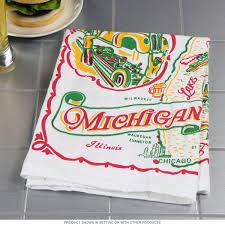 kitchen towel designs michigan state 50s style cotton flour sack souvenir towel