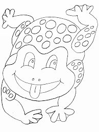 frog printable coloring