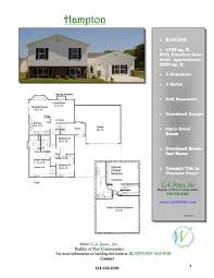 Builder Floor Plans C A Jones Inc Welcome To A New Experience In Home Building