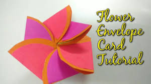 tutorial scrapbook card paper flower envelope card tutorial for scrapbook how to