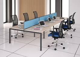U Schreibtisch Schreibtisch Für Open Space Pulverbeschichteter Stahl Melamin