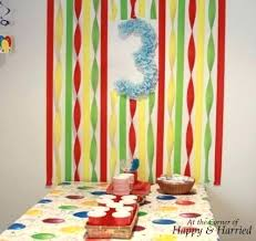 Birthday Decoration Ideas With Crepe Paper Ruffled Streamers Fan