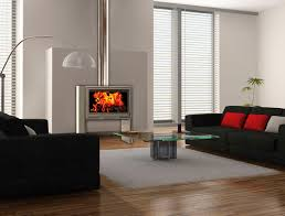 open fire or wood burner in property buildings equipment and