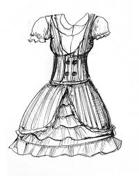 dress sketch i have some stripey green fabric with u2026 flickr