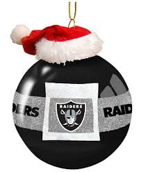 memory company oakland raiders glass santa belt ornament sports
