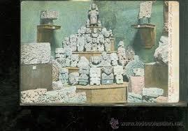 imagenes idolos aztecas tarjeta postal de mexico museo nacional colec comprar postales