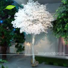 gnw btr015 2 white ficus leaf tree artificial plants of leaves