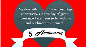 Wedding Day Wishes For Husband 5th Wedding Anniversary Quotes For Wife From Husband