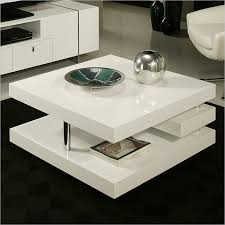 High Gloss Side Table Coffee Table Square Coffee Table Storage Coffee Table As High