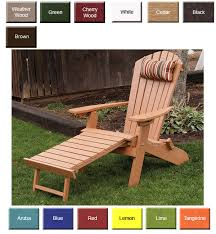 chair with built in ottoman outdoor poly furniture amish polycraft 883 reclining and folding
