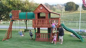 Backyard Discovery Monticello Cedar Swing Sets Backyard Discovery Skyfort Ii All Cedar Swingset