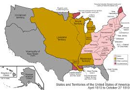 Us Map Of The United States by Map Of The United States 1810