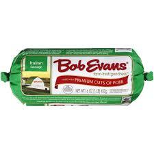 bob evans thanksgiving meal bob evans italian sausage 16 oz chub walmart com