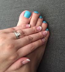 french gel manicure by leslie she u0027s amazing and opi pedicure in