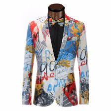 Color Painting by 2017 Luxury Color Painting Mens Blazer Fashion Suits For Men Top