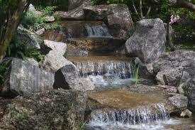japanese garden waterfall picture of hermann park houston