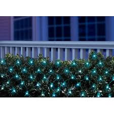 holiday time led net light set green wire blue bulbs 150 count
