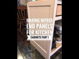 how to replace kitchen end panels how to make finished end panels for kitchen cabinets part 1