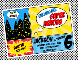 Invitation Card 7th Birthday Boy Free Superhero Invitation Templates Invitation Templates