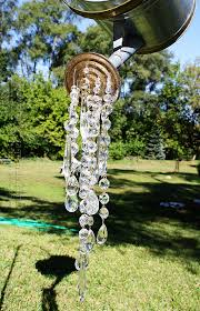 How To Make An Outdoor Chandelier Watering Can That Pours Crystals An Absolutely Beautiful Garden