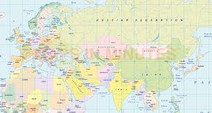 Bishkek Map Vector World Political Map In The Gall Projection Uk Centric In