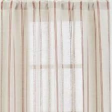 Crate And Barrel Curtains Reilly Orange Chevron 50