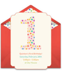 1st birthday free 1st birthday online invitations punchbowl