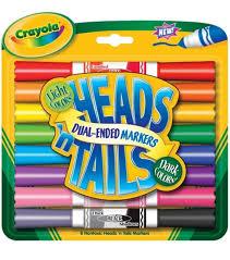 amazon com crayola heads u0027n tails dual ended markers 8 pkg dark