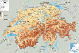 Annecy France Map by Large Detailed Physical Map Of Switzerland With All Roads Cities