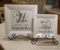personalized wedding plate wedding plates with vinyl cher s signs by design personalized