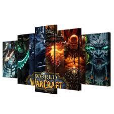 hd 5 piece canvas art printed world warcraft game painting room