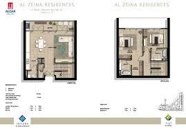 al zeina floor plans al raha beach abu dhabi