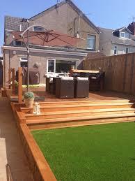 Summer Garden Bar - my garden astro turf grass u0026 cedar wood decking tub u0026 bar