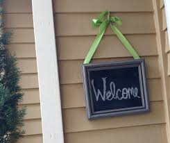 welcome sign chalkboard to change up front door greeting home