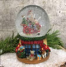 traditional santa sleigh musical snow globe tutti decor ltd