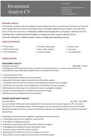 Senior Financial Analyst Resume Samples by Investment Analysis Sample An Example To Illustrate Roi Analysis