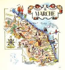 Maps Italy Vintage Marche Italy Map Picture Map Of Italy Artistic Pictorial