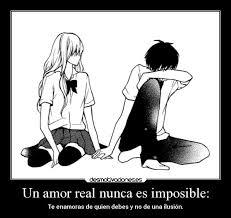 imagenes de amor imposible anime un amor real nunca es imposible desmotivaciones