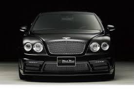 bentley continental flying spur black bentley u0027s flying spur gets wald u0027s black bison design wemotor com