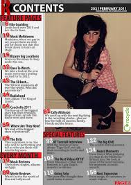 image result for music magazine contents page typography song