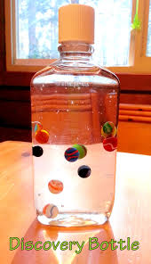 discovery bottle corn syrup and marbles very relaxing to watch