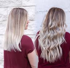 glam seamless hair extensions rooted to platinum in hair extensions